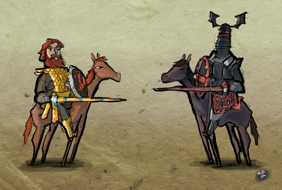 Use Verb on Noun #25: Conquests of Camelot Art Print