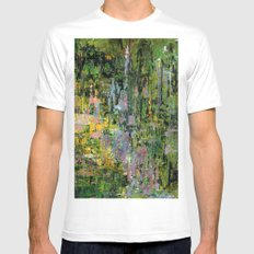 Giverny White Mens Fitted Tee SMALL