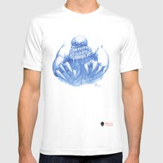 Mad Horror  White SMALL Mens Fitted Tee