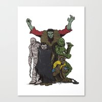 The Demonsterables (no T… Canvas Print