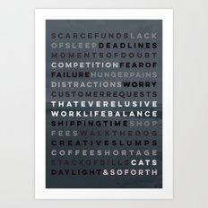 An Artist's Life Art Print