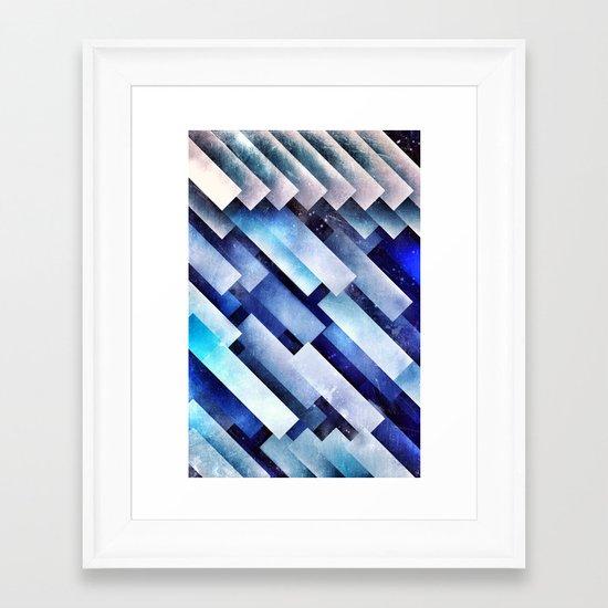 ystro blww Framed Art Print