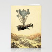 Whale Flight I Stationery Cards