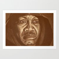 Round 2...joe Frazier Art Print
