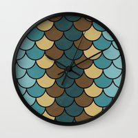 Shelled Teal Wall Clock