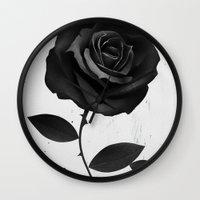 Fabric Rose Wall Clock