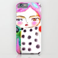 iPhone & iPod Case featuring Dream a bit...every day! pink hair girl fish flowers by Atelier Susana Tavares
