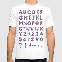Pills Font Mens Fitted Tee White SMALL
