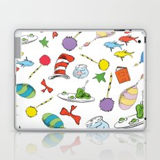 dr seuss pattern..  cat in the hat, lorax, oh the places you'll go,  Laptop & iPad Skin