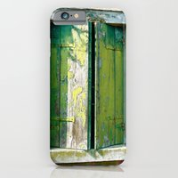 Old green window iPhone 6 Slim Case