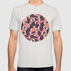 Toucans [pink] Mens Fitted Tee Silver SMALL