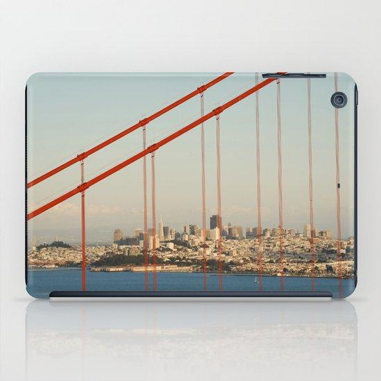 Golden San Gate Francisco Bridge iPad Case