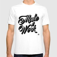 Make It Work Mens Fitted Tee White SMALL