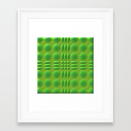 Puffy Green Framed Art Print