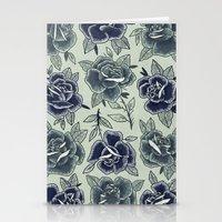 Dozen Roses - Blue Stationery Cards