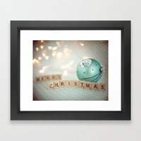 Merry Christmas Framed Art Print
