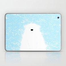 Its A Polar Bear Blinking In A Blizzard - Blue Laptop & iPad Skin