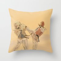 Tae Kwon Do Head Kick Throw Pillow
