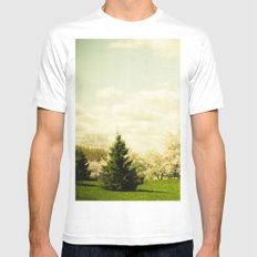In a Land Far Away SMALL White Mens Fitted Tee