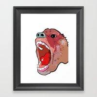 Raging Ape Framed Art Print
