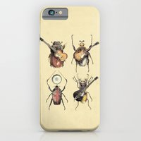 retro iPhone & iPod Cases featuring Meet the Beetles by Eric Fan