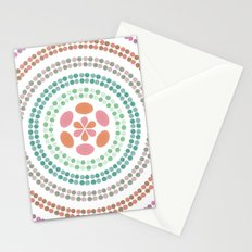 Retro floral circle 2 Stationery Cards