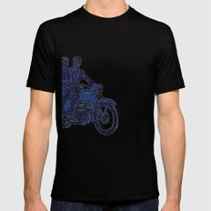 Motorbike  Mens Fitted Tee Black SMALL
