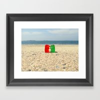 Gummy Bear Beach Kiss Framed Art Print