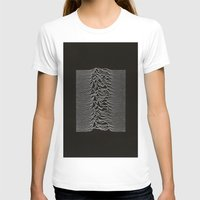 Unknown Pleasures Womens Fitted Tee White SMALL