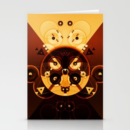 Ying-Yang Gold Cross Version Stationery Card
