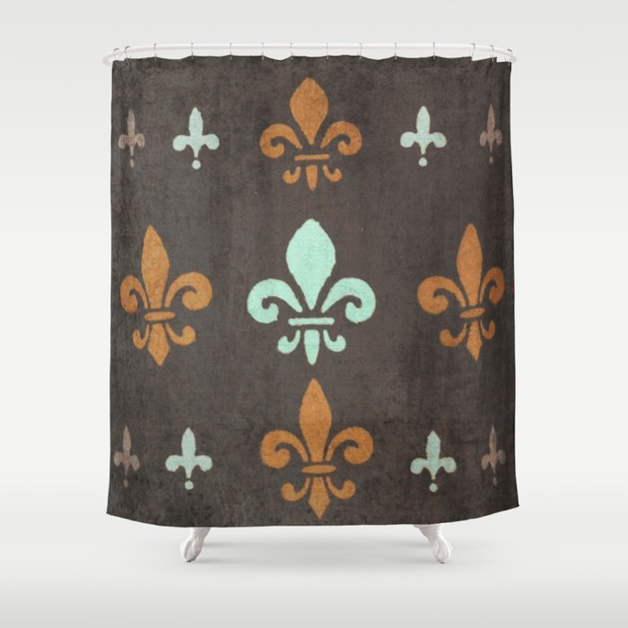 Extra Long Shower Curtain Rod Fleur De Lis Bedding Collec
