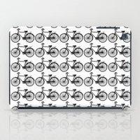 Black Bicycle Pattern iPad Case