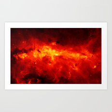 The Painted Space Lava Art Print