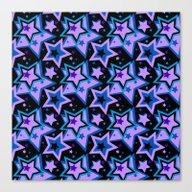 Trendy Night Stars Canvas Print