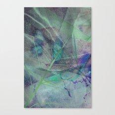 Dry blue leaf Canvas Print