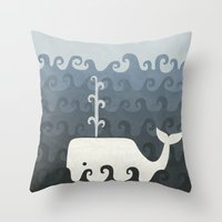 There She Blows Throw Pillow