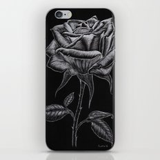 Silver Rose iPhone & iPod Skin