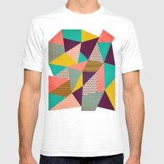 Geometric Love II Mens Fitted Tee White SMALL