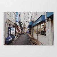 Blue Street Canvas Print