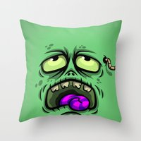 ZOMBIE HORROR Throw Pillow