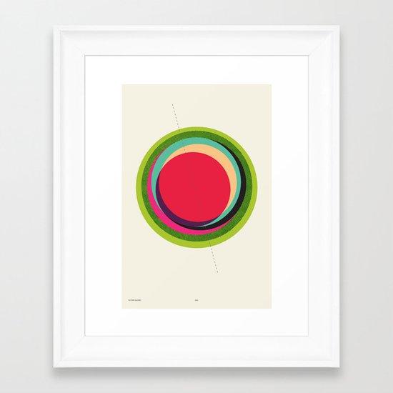FUTURE GLOBES 002 Framed Art Print