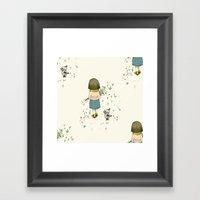 A walk, pattern Framed Art Print