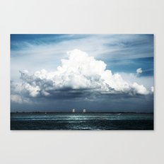 Island Clouds Canvas Print