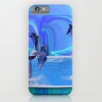 iPhone Cases featuring Leaping Dolphins by Roger Wedegis
