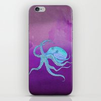 Octopus Swims iPhone & iPod Skin