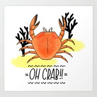 Oh Crab! Illustration Art Print