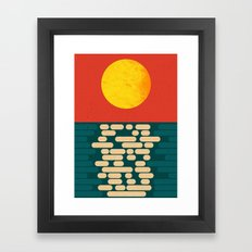 Sun Over The Sea - Afternoon Framed Art Print