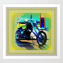Bike Night Art Print