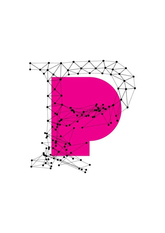 P (abstract geometrical type) Art Print