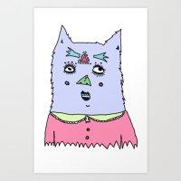 gato magico#4 Art Print